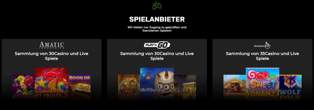 Spiel Anbieter N1 Casino