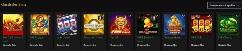 Klassische Slots Rich Casino